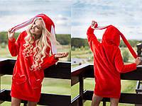 Домашнее женское платье из махры с ушками 311911