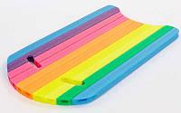 Бодиборд доска для плавания PL-4528 (EPE разноцветный, р-р 80x44x2,5cм)