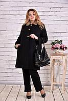 Женское зимнее кашемировое пальто T0647 / размер 42-74 / цвет черный