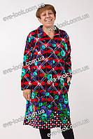 Красивый женский велюровый халат. Размеры 48-60