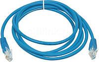 Патч-корд 15 м, UTP, Blue, Ritar, литой, RJ45, кат.5е, витая пара, сетевой кабель для интернета