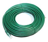 Патч-корд 30 м, UTP, Green, Ritar, литой, RJ45, кат.5е, медь