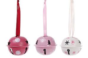 Набор новогодних украшений-подвесок (6шт) Колокольчик 4.5см