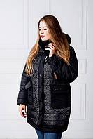 Куртка женская зимняя Сетка черный