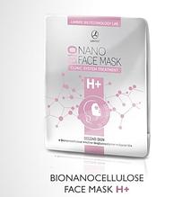 Маска бионаноцеллюлозная для лица H+ с активатором, содержащим гиалуроновую кислоту SIGNAL -10®, ACTIVE BIOGLU