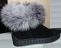 Женские унты на толстой подошве, женская зимняя обувь от производителя модель УН434