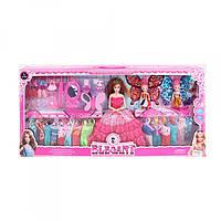 Кукла с нарядом 188XP-3, высота 28 см, 2 дочки 10 см, платье 16 шт, Цвет Розовый