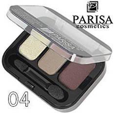 Parisa - Тени для век 3-цв. E-403 Тон 04 пастель, коричневые перламутр