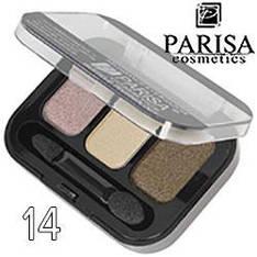 Parisa - Тени для век 3-цв. E-403 Тон 14 беж, коричневые перламутр