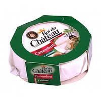 Сыр камамбер с белой плесенью натуральный c зеленью Roi du Chateau Camembert 120 г., фото 1