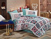 Комплект постельного белья  Hobby поплин размер евро Mozaique голубой