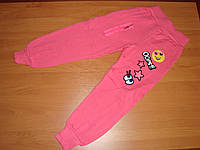 Спортивные штаны для девочки с начесом размер 4 5 6лет