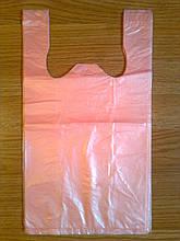 Пакет-майка супер 25х43 см/12 мкм, щільні фасувальні пакети, пакувальний пакет, кульки виробник оптом