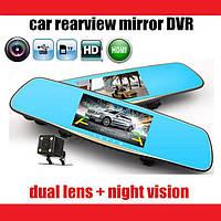 """Зеркало регистратор D35 7"""" сенсор, 2 камеры, GPS навигатор. Отличное качество. Купить онлайн. Код: КДН2396"""