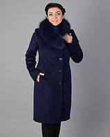 Женское зимнее пальто из ворсового кашемира