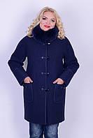 Зимнее пальто из вареной шерсти