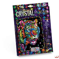 Набор для творчества CRYSTAL MOSAIC, Тигр, Danko Toys