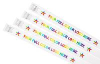 Полноцветная лазерная печать на контрольных браслетах Tyvek