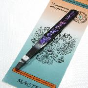Пінцет для брів Майстер М 0141 кольоровий, довжина; 9 див., 1 штука
