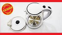 Чайник электрический (стеклянная колба) LED подсветка Domotec DT-702 2200W 2L. Высокое качество. Код: КДН2398