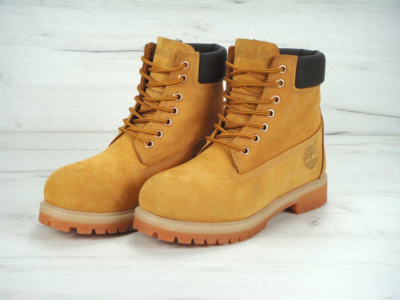 7bad46c6 Мужские зимние ботинки Timberland с шерстяным мехом (yellow) - Обувь и  одежда с доставкой