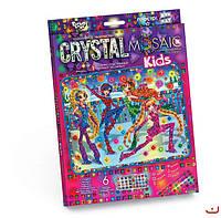 Набор для творчества CRYSTAL MOSAIC KIDS, На катке, Danko Toys
