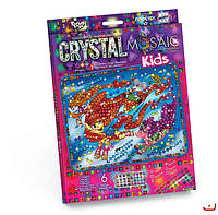 Набор для творчества CRYSTAL MOSAIC KIDS, Мышонок на тройке лошадей, Danko Toys