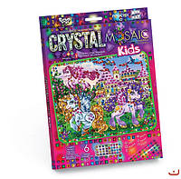 Набор для творчества CRYSTAL MOSAIC KIDS, Пони и замок, Danko Toys