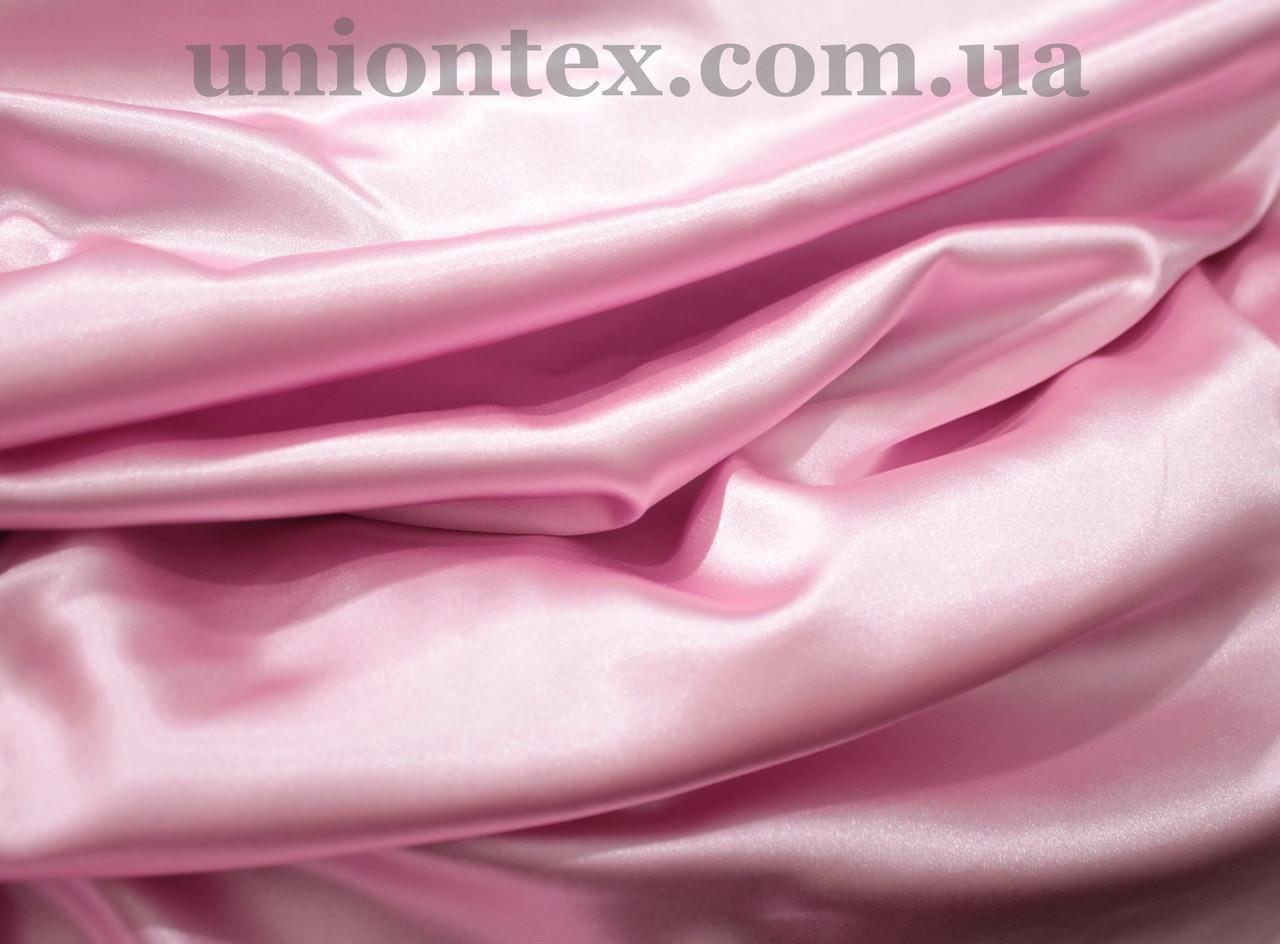 Стрейч атлас розовый
