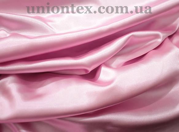 Стрейч атлас розовый, фото 2