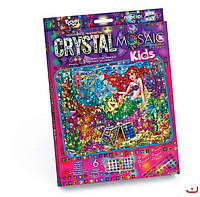 Набор для творчества CRYSTAL MOSAIC KIDS, Русалка, Danko Toys