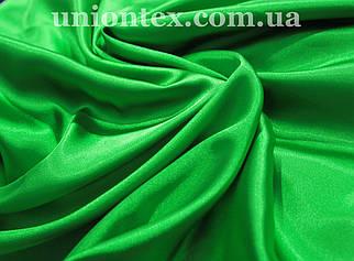 Стрейч атлас зеленый