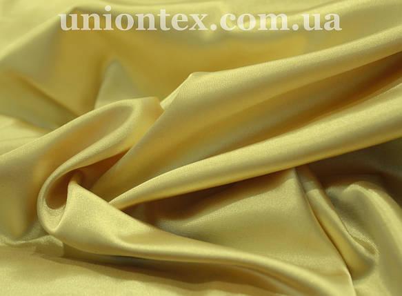 Стрейч атлас золотистый, фото 2