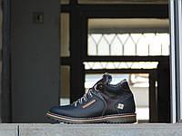 Мужские зимние ботинки с нат.кожи на меху Columbia Коричневые размеры: 40 41 42 43 44 45