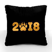 """Новогодняя подушка """"2018"""" 03"""