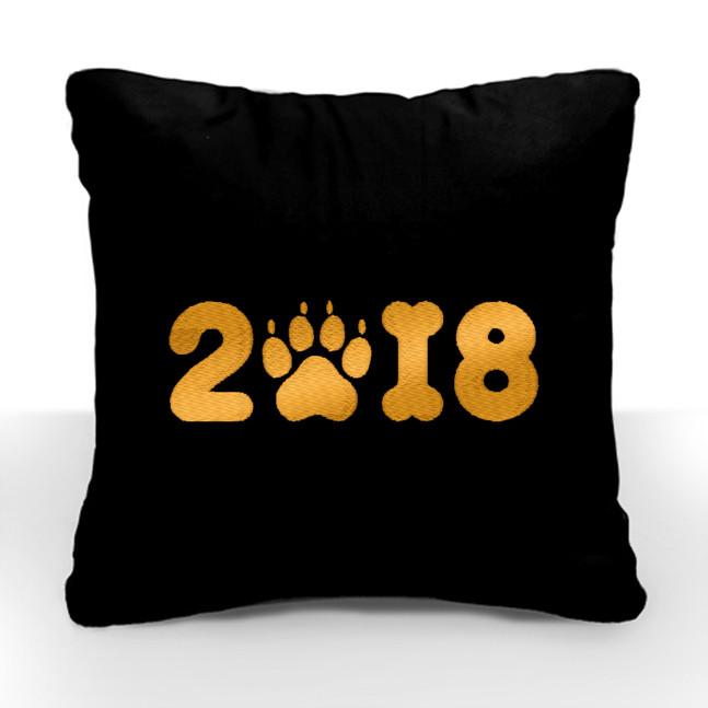 """Новогодняя подушка """"2018"""" 03 - Оптовый интернет-магазин """"Slivki"""" в Днепре"""