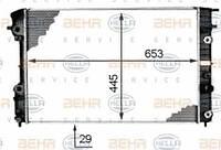 Радиатор охлаждения Opel Omega B 1995-2000 (2.5-3.0 АКП AC+) 653*460*42мм по сотах