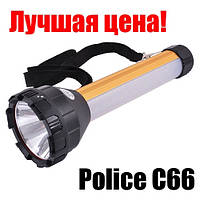 Фонарь Police 12v POLICE C66-1Led+12SMD+1RED +1BLUE LITHIUM BATTERY-гарантия!