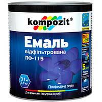 Эмаль Kompozit ПФ-115 шоколадная 0.25 кг N50112120