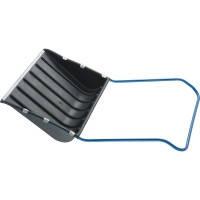 Скрепер для снега 750 х 550 х 1,3 мм, пластиковый, П-образная ручка, металлическая окантовка СибрТех 61593