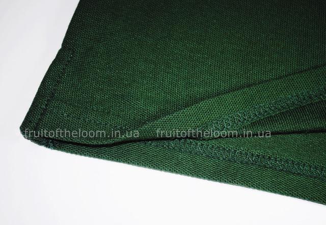 Тёмно-зелёное женское поло 65/35