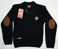 Пуловер вязанный для мальчика 4-5-6-7-8-9 лет