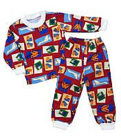 Теплая детская пижама с начесом для мальчика и девочки