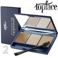 TopFace - Набор теней для бровей PT-504 3-цв ТОН 02 light brown, beige, caramel