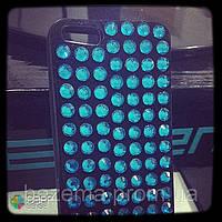 """Чохол зі стразами """"AQUA"""" на iPhone 4/5 (Під замовлення на будь-який телефон)"""