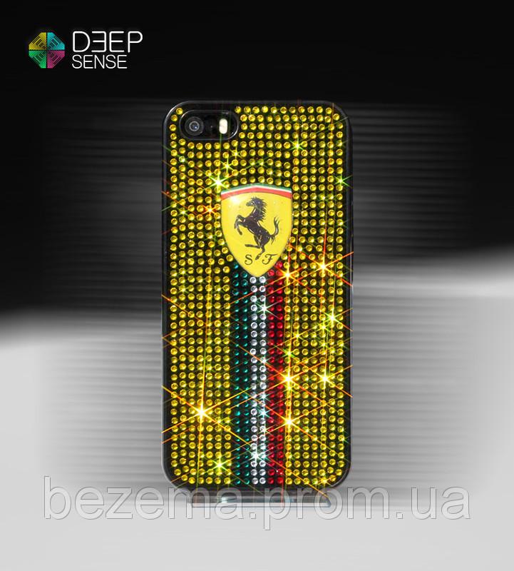 """Чохол зі стразами """"FERARRI"""" на iPhone 4/5 (Під замовлення на будь-який телефон)"""