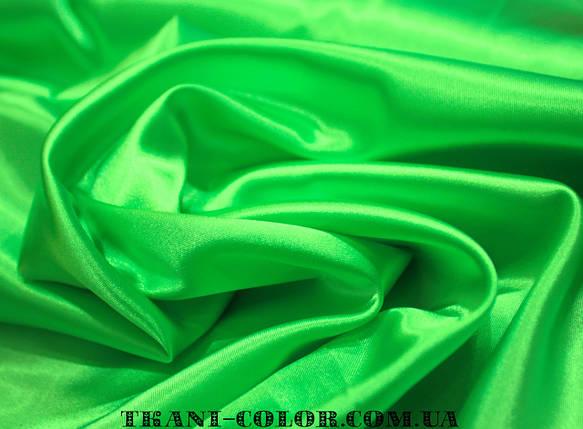 Ткань атлас стрейчевый салатовый, фото 2