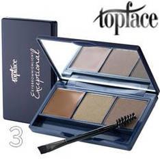 TopFace - Набор теней для бровей PT-504 3-цв ТОН 03 brown, natural, dark beige