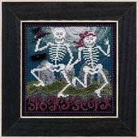"""Набор для вышивания """"Spooky Scary"""" - """"Страшные скелетики"""" Mill Hill"""