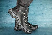 Мужские зимние ботинки с нат.кожи на меху Columbia Черные р: 41 42 44 45